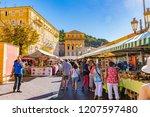 nice  france   october 5  2018  ... | Shutterstock . vector #1207597480