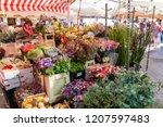 nice  france   october 5  2018  ... | Shutterstock . vector #1207597483