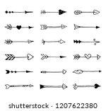 set of hand drawn vintage... | Shutterstock .eps vector #1207622380