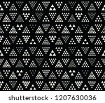 geometric triangle seamless... | Shutterstock .eps vector #1207630036