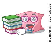 student with book cute pillow... | Shutterstock .eps vector #1207631293