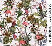 beautiful tropical flowers ... | Shutterstock .eps vector #1207633510