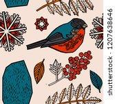 winter seamless pattern. | Shutterstock .eps vector #1207638646