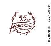 35 years design template.... | Shutterstock .eps vector #1207639969