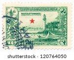 turkey   circa 1914  a stamp... | Shutterstock . vector #120764050