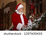 santa claus with surprised ... | Shutterstock . vector #1207650433