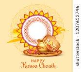 creative illustration of indian ... | Shutterstock .eps vector #1207652746
