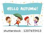 vector illustration of autumn...   Shutterstock .eps vector #1207655413