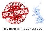 map of united kingdom vector... | Shutterstock .eps vector #1207668820