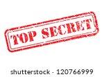 top secret rubber stamp... | Shutterstock . vector #120766999