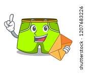 with envelope cartoon sport... | Shutterstock .eps vector #1207683226