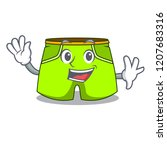 waving cartoon sport fashion... | Shutterstock .eps vector #1207683316