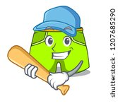 playing baseball character...   Shutterstock .eps vector #1207685290