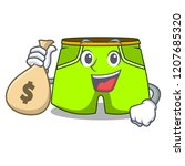 with money bag character style...   Shutterstock .eps vector #1207685320