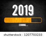 new year 2019 loading status | Shutterstock . vector #1207703233
