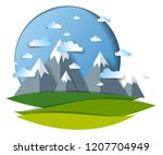 scenic landscape of mountain... | Shutterstock .eps vector #1207704949