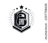 sport logo for weightlifting... | Shutterstock .eps vector #1207708630