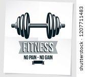 fitness center vector marketing ... | Shutterstock .eps vector #1207711483