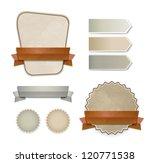 collection of vector retro... | Shutterstock .eps vector #120771538