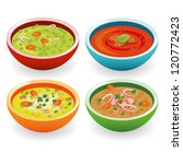 four soup | Shutterstock .eps vector #120772423