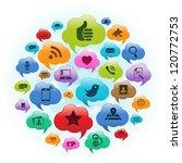 vector illustration of a social ... | Shutterstock . vector #120772753