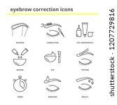 eyebrow correction icons set | Shutterstock .eps vector #1207729816