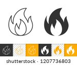 fire black linear and... | Shutterstock .eps vector #1207736803