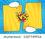 versus comic frame. vs comics... | Shutterstock .eps vector #1207749916