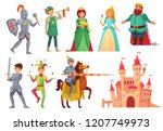 medieval characters. royal... | Shutterstock .eps vector #1207749973