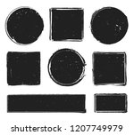 grunge texture stamp. circle... | Shutterstock .eps vector #1207749979