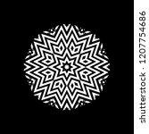 shape of geometric snowflake ...   Shutterstock .eps vector #1207754686