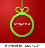 christmas applique background.... | Shutterstock .eps vector #120776194