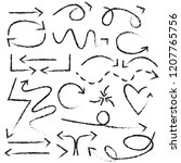 isolated hand drawn brush...   Shutterstock .eps vector #1207765756