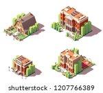 vector isometric educational... | Shutterstock .eps vector #1207766389