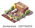 vector isometric low poly... | Shutterstock .eps vector #1207766923