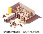vector isometric low poly... | Shutterstock .eps vector #1207766926
