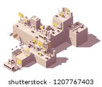 vector isometric city with... | Shutterstock .eps vector #1207767403