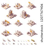 vector isometric outdoor... | Shutterstock .eps vector #1207767406