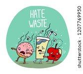 reduce food waste zombie food... | Shutterstock .eps vector #1207769950