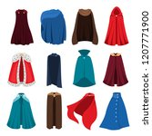 cloaks party clothing and capes ... | Shutterstock .eps vector #1207771900