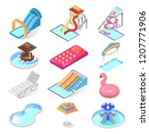 water park kid entertainment... | Shutterstock .eps vector #1207771906