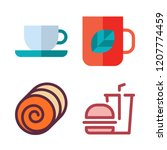 food icon set. vector set about ... | Shutterstock .eps vector #1207774459