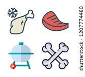 steak icon set. vector set... | Shutterstock .eps vector #1207774480