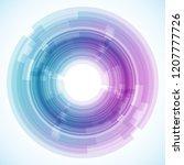 geometric frame from circles ...   Shutterstock .eps vector #1207777726