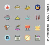 bread icon set. vector set... | Shutterstock .eps vector #1207778056