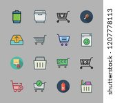 basket icon set. vector set... | Shutterstock .eps vector #1207778113