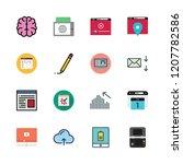 digital icon set. vector set... | Shutterstock .eps vector #1207782586