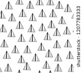 triangles. black and white... | Shutterstock .eps vector #1207783333