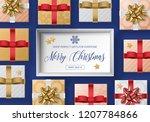 christmas sale banner design... | Shutterstock .eps vector #1207784866