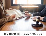 lawyer in office. counseling... | Shutterstock . vector #1207787773